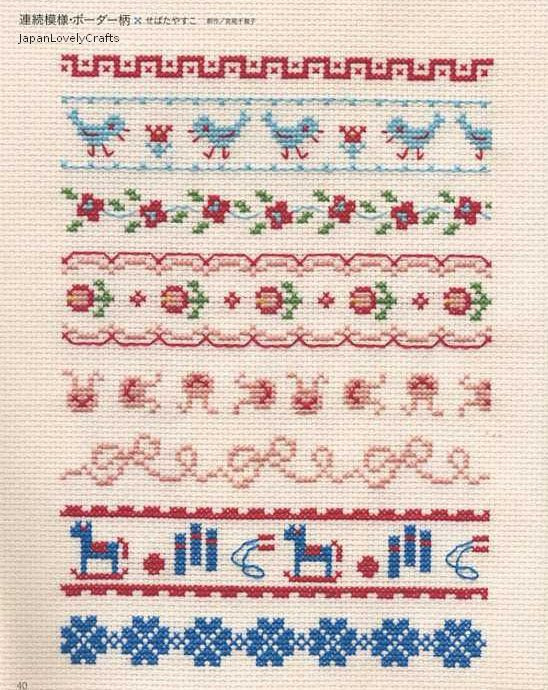 Easy Cross Stitch Technique & 500 patterns by JapanLovelyCrafts