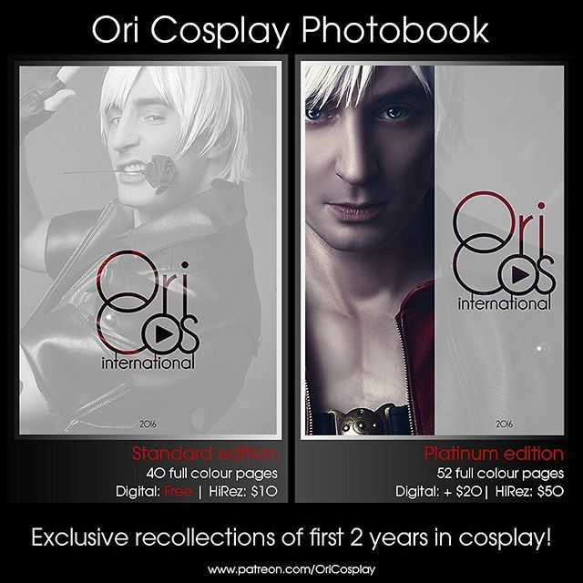 Ori Cosplay 2016 digital #photobooks are out now! Grab your free Standard edition copy today exclusively on http://www.patreon.com/OriCosplay or place a pledge and get your HiRez copy and Platinum edition. ❤️