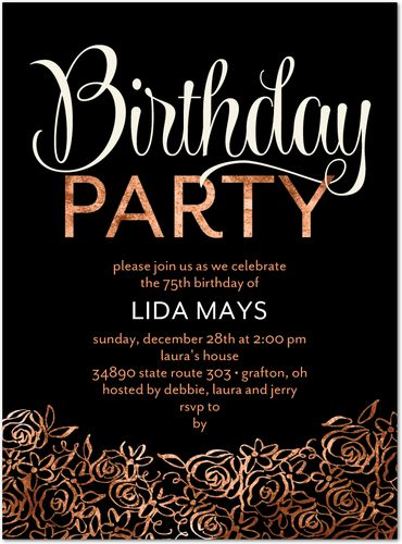 Birthday party slogans for urban adult parties