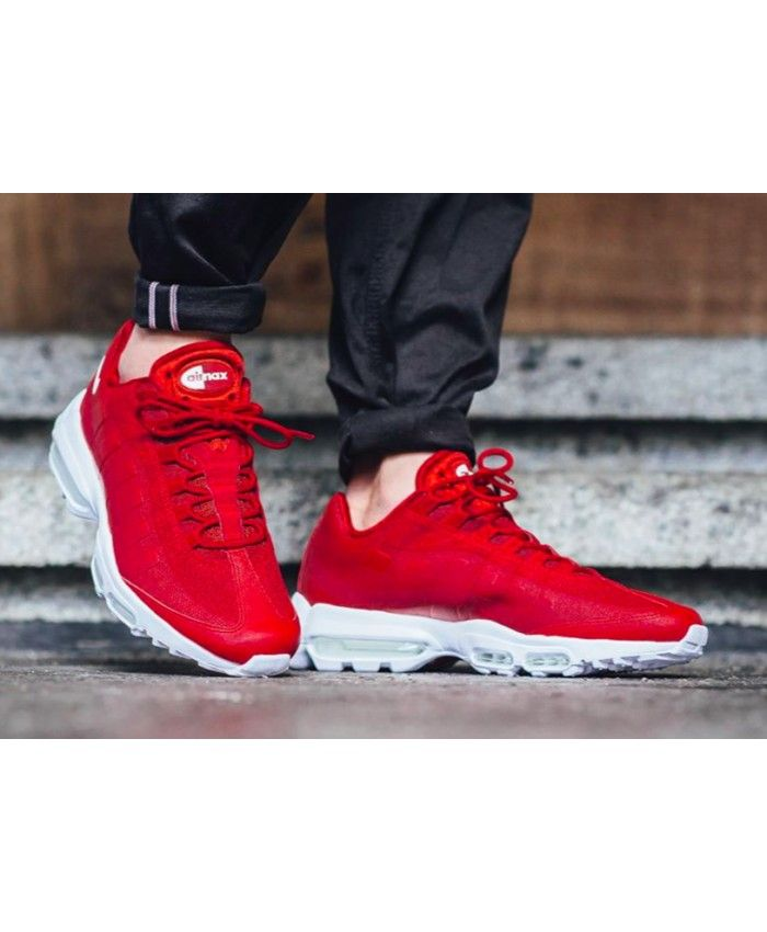 super popular 947fb bf1d9 Nike Air Max 95 Ultra Essential Red White Trainers   Shoes   Nike air max  trainers, Nike air max, Air max 95
