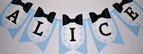 Alice in Wonderland Banner--Wonderland Party Decor--Mad Hatter Tea Party--Wonderland Baby Shower--Nursery Decor