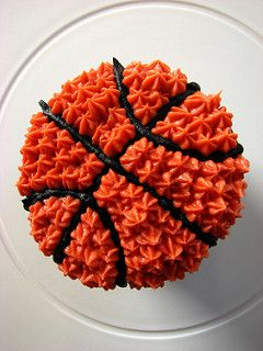 Basketball Cupcakes - picture for inspiration