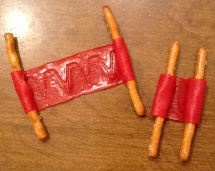Scroll Snacks! Snack idea for Josiah Bible Lesson. (When Josiah was king, he ordered that God's house be repaired. The priest Hilkiah found the Book of the Law when this happened.) Needed: pretzel sticks, fruit roll-ups.