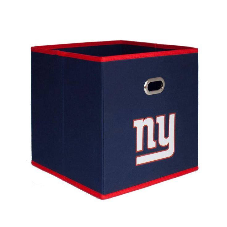 New York Giants NFL Store-Its 10-1/2 in. W x 10-1/2 in. H x 11 in. D Navy Blue Fabric Drawer