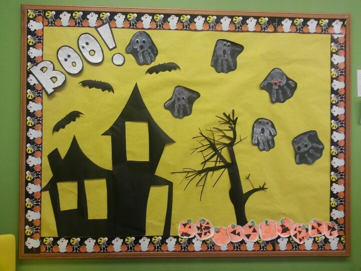 17 best images about halloween bulletin board ideas on for Theme board ideas