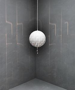 Lampada a sospensione IKEA PS 2014: il paralume crea dei piacevoli effetti di luce sulle pareti.