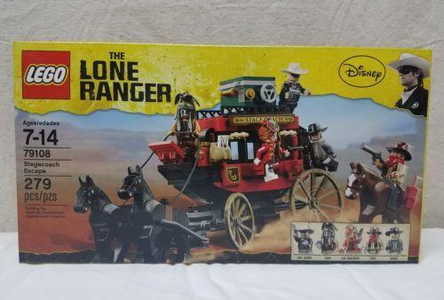 LEGO Lone Ranger Western Stagecoach Escape (79108) New Sealed Set Legos Toy Toys
