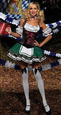 Sexy Women Hansel Gretel German Beer Maid Oktoberfest Costume Halloween Dress