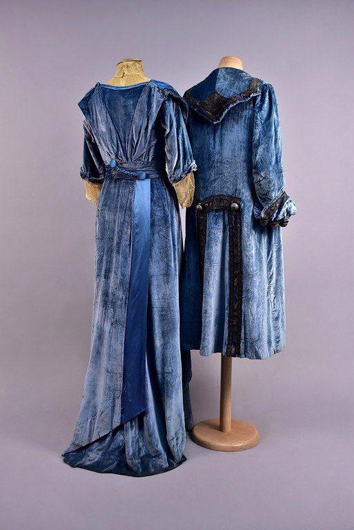 Ансамбль из синего бархата. Дом моды Ворта, Франция, начало ХХ в.