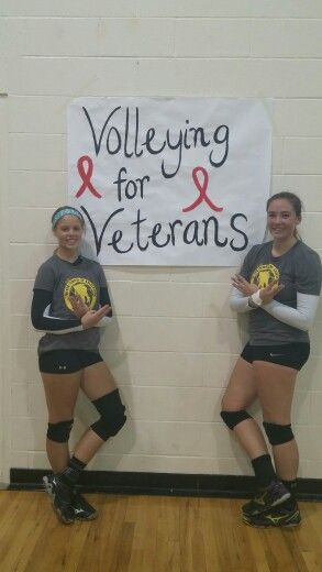 Belle Potter and Bayley created a fundraiser to benefit the Wounded Warrior foundation. They designed and sold shirts. They also set up a go fund me account. They called their event VOLLEYING FOR VETERANS. All the money earned went to the Wounded warrior foundation in Montana. For more information on how to get involved please message me.