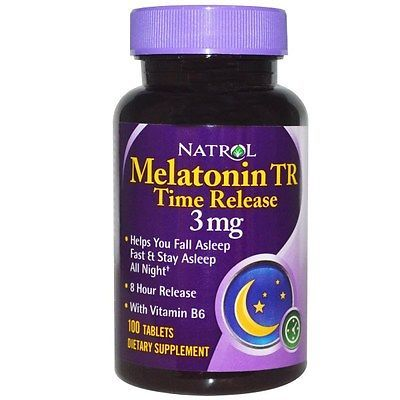 Natrol, Melatonin TR, Time Release, 3 mg, 100 Tablets