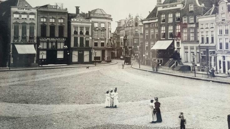 Grote Markt, early 1900. #Groningen #Netherlands.