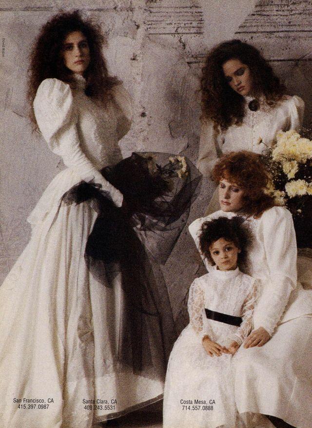Jessica McClintock Bridal Ad Campaign Spring/Summer 1988