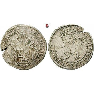 Niederlande, Kampen, Löwentaler o.J., ss+: Löwentaler o.J. Ritter hinter Löwenwappen, Löwe hält Stadtwappen / Steigender Löwe. Dav.… #coins