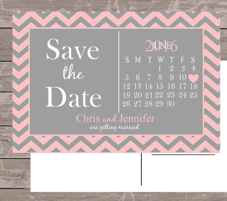 Save the date card, save the date magnet, calendar save the date, pink and grey save the date by NoteWorthyStationery on Etsy https://www.etsy.com/listing/280347490/save-the-date-card-save-the-date-magnet
