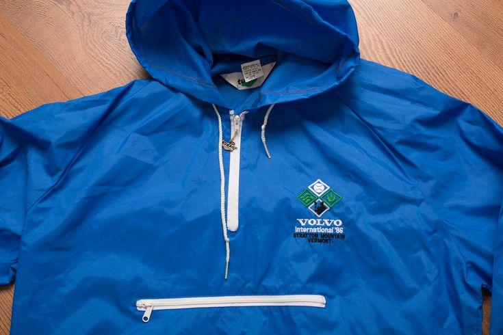 Vintage 80s Volvo International 1986 Windbreaker/Rain Jacket, Tennis Tournament