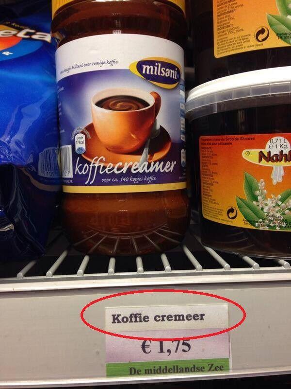 Het recept voor zwarte koffie ...