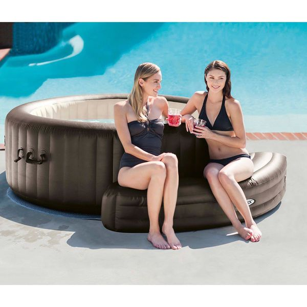 Intex Purespa Inflatable Bench Hot Tub Jacuzzi Pool Spa
