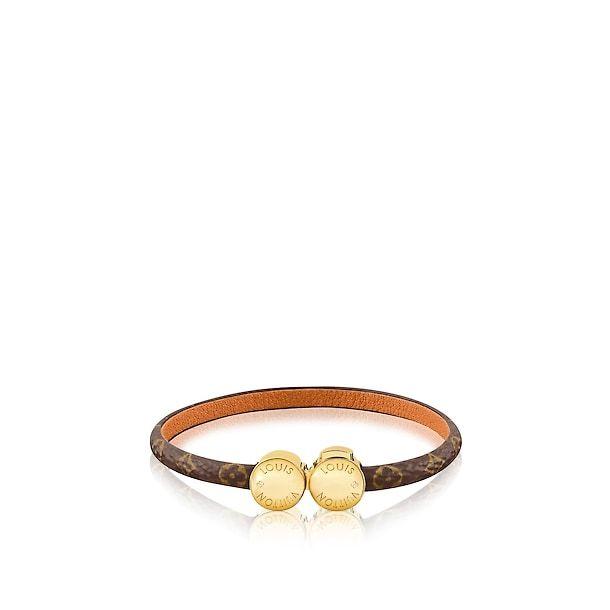 Monogram Accessories Leather Bracelets Historic Mini Monogram