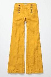 so wish I could pull these off.Wide Legs Pants, Sailors Pants, Yellow Pants, Capaci Trousers, Summer Night, Wear, Vintage Inspiration, Mustard Yellow, Sailors Style