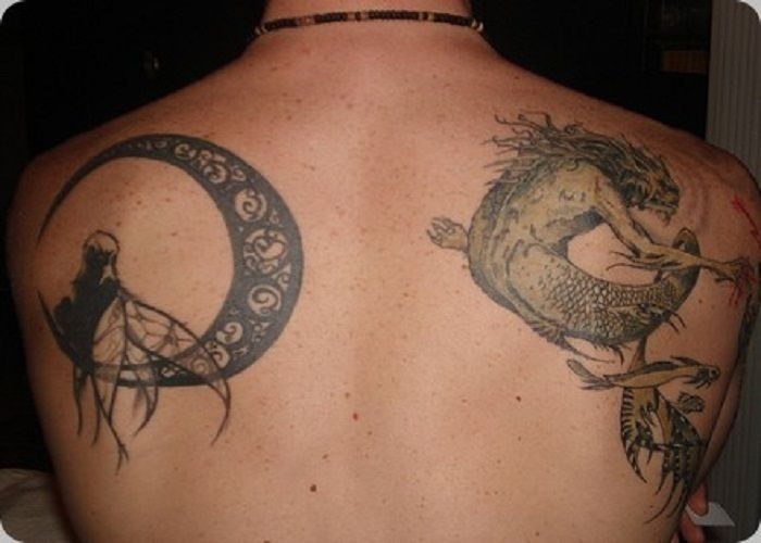 Moon Tattoo on Back Body Cool Mens | Tattoos for Men ...