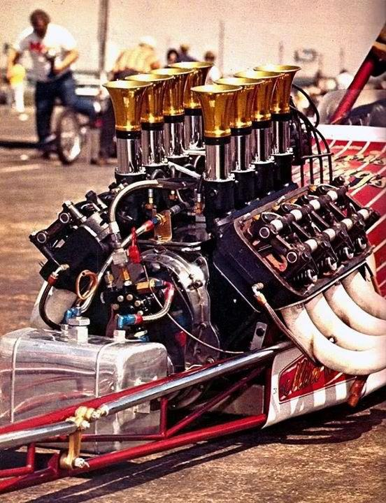 Injected Hemi Dragster. Amazing that no one has come up with a better design for drag racing than the hemi since the 50's.
