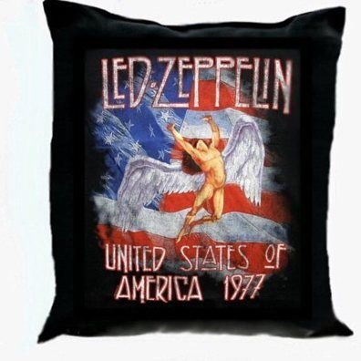 "Vintage LED ZEPPELIN Art Black Pillow 15.5"" by South Shore Art on Opensky Join here: opensky.com/member/southshoreart Get instant $10.00 coupon"