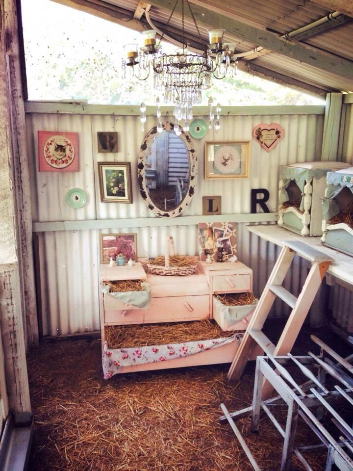 Mein Shabby Sheek Chook House! #Shabbychicdresser – Hühner – #Chook #house #Hü…