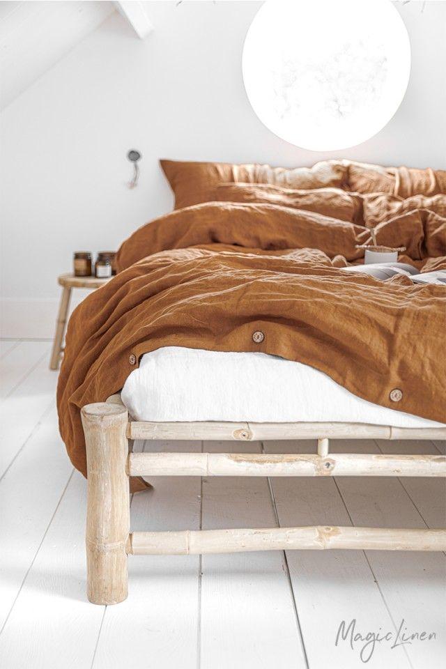 Cinnamon Linen Duvet Set In 2021 Linen Duvet Covers Bed Linen Sets Duvet Covers