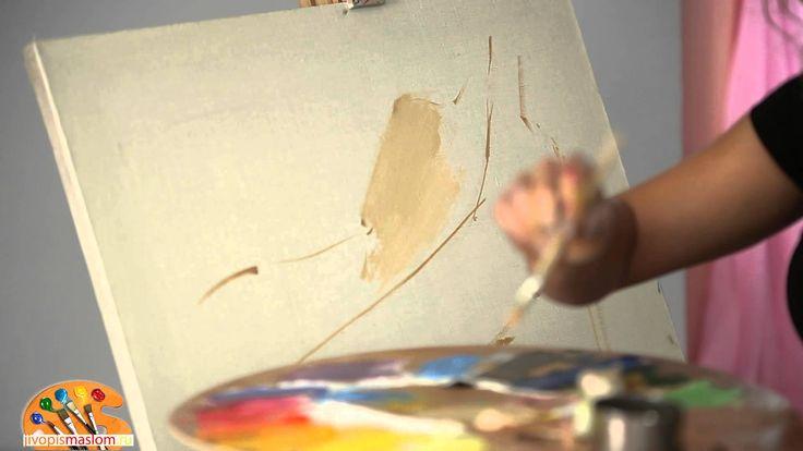 Уроки живописи маслом от Ольги Базановой: смешение цветов - телесный