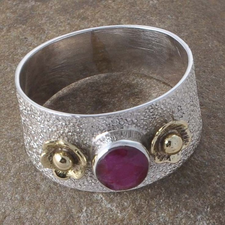 925 STERLING SILVER RUBY GEMSTONE NEW STYLE RING JEWELLERY 4.22g R01135 #Handmade #GEMSTONERING