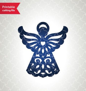 Best 25 angel silhouette ideas on pinterest nativity for Angel decoration template