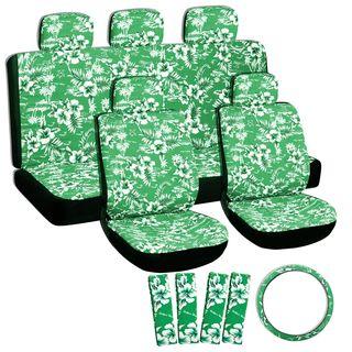 Hawaii Green Seat Cover Set