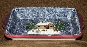 Living Quarters Holiday Mountain Lodge Large Rectangular Baker