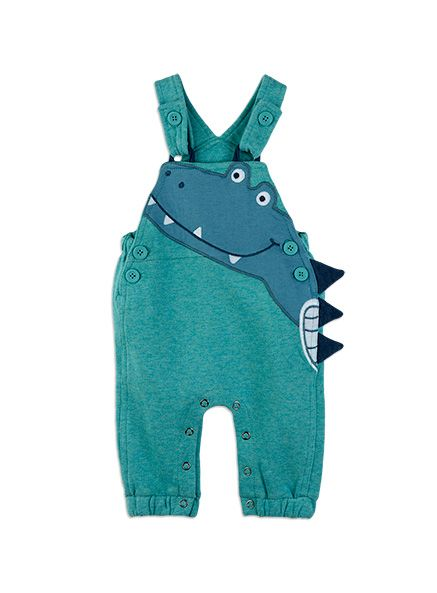 Baby Boys + Accessories Knit Croc Dungarees Basil dungaree