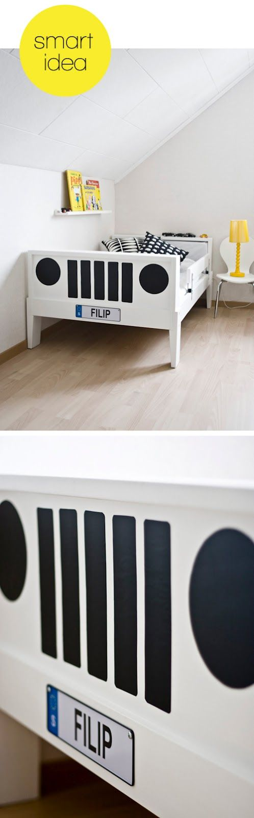 Baby jeep bed - Boys Bed Idea For Temporary Car Decals
