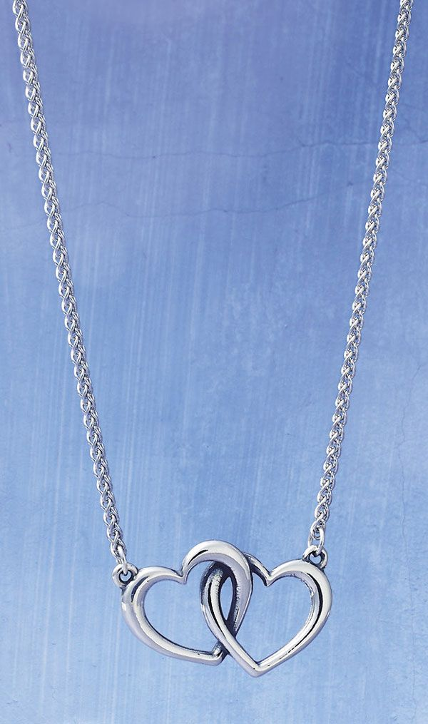 Double Heart Linked Necklace #JamesAvery