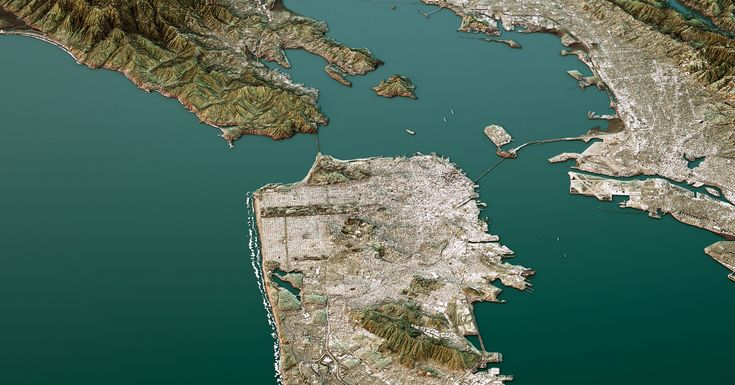 Sea levels are rising. But the San Francisco Bay Area has another problem: It's sinking. By 2100, it could lose 165 square miles to the sea.