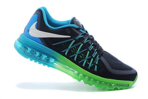 698902-401 Air Max black blue mens running sport shoes 2015