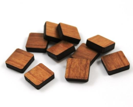 8 Pieces. Square Charms -Mixed Laser Cut Wood Square Shape -Earring Supplies- Laser Cut Supplies- Little Laser Lab Sustainable Wood Products | littlelaserlab.com