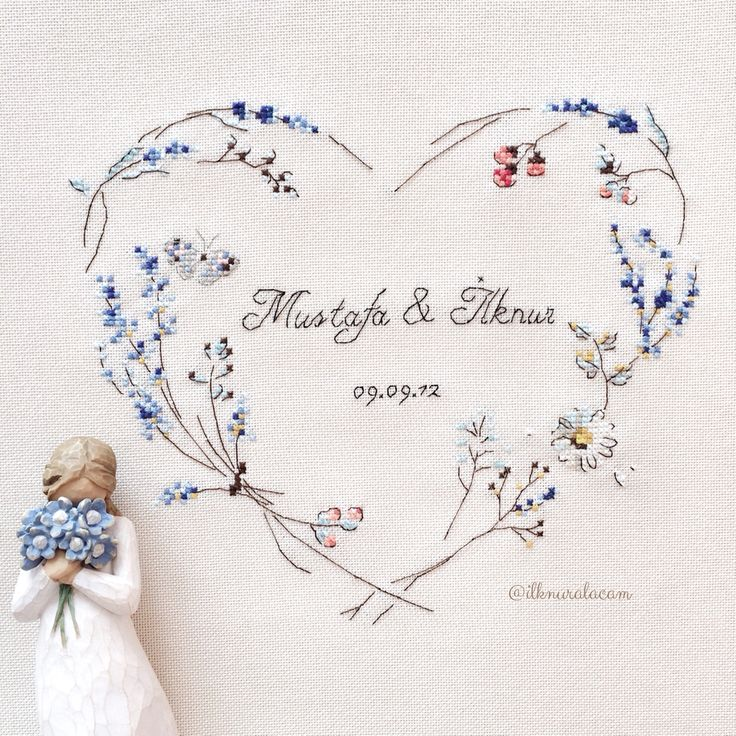 Helene le berre / le langage des fleurs  #Crossstitch #embroidery #handmadegifts…
