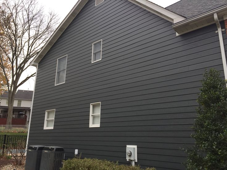 Iron Gray James Hardie Lap Siding Cedarmill 8 1 4 Quot With
