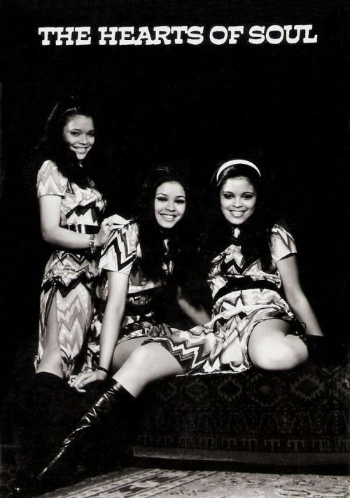 Hearts of Soul was formed by three Dutch Indo sisters from Harderwijk: Bianca, Stella and Patricia Maessen (1952-1996). They later moved to Veghel, also in the Netherlands. In 1970, they sung Waterman as the Netherlands entry to the Eurovision Song Contest.