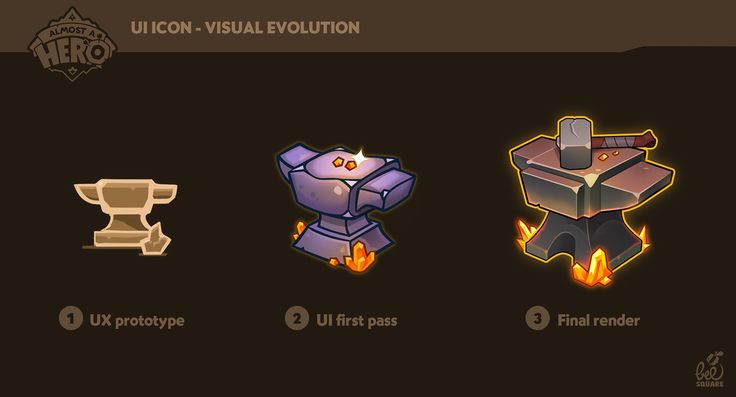 UX/UI on Almost a Hero game on Behance