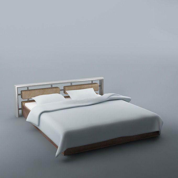 Bed 07 3d Model Bed Bed Furniture Furniture