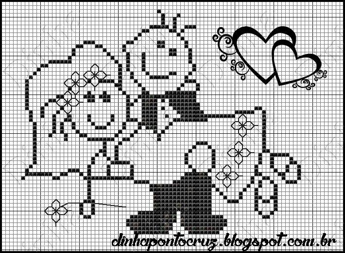 Bom dia!  O amor esta no ar, gráficos para casamento:     fiz este gráfico exclusivamente para minha cliente, vejam como ficou minha encomen...