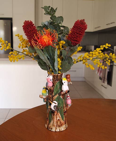 Australian Birds Vase Artificial Flowers Vases Pinterest Native