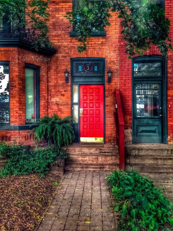 Red Door. Door Photography. Toronto Photography. Urban Photography. Modern Photography. Red Decor. Fine Art Giclee Print. Wall Art.