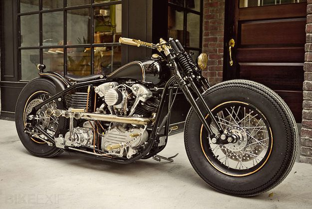 Custom Harley Knucklehead Bike by Rough Crafts