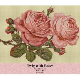 Twig with Roses